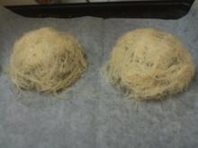 סלסילות קדאיף ממולאות קרם ואגסים- מאסטר מתכונים