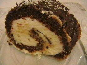 רולדת שוקולד אגוזים במילוי קצפת ובציפוי שוקולד מלווה בתמונות שלב אחר שלב>>>מאסטר מתכונים