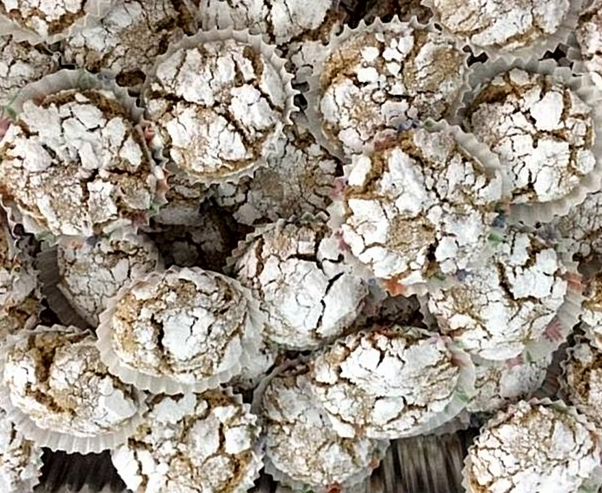 עוגיות בוטנים מושלגות-