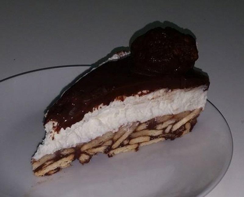 עוגת כדורי שוקולד וגבינה-
