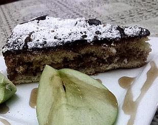 עוגת תפוחים עם שכבת בצק וקצף- מאסטר מתכונים