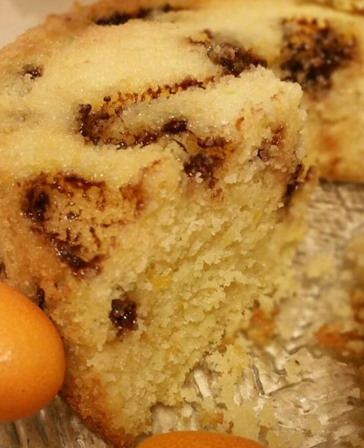 עוגת תפוזים עם נגיעות שוקולד תפוז