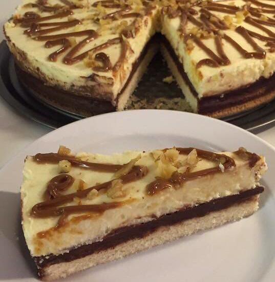 עוגת וניל גנאש וקרם