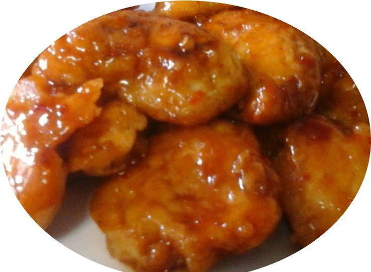 קוביות עוף בטמפורה חמוץ מתוק