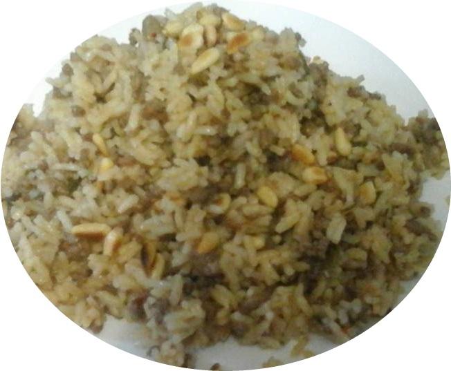 אורז עם בשר וצנובר