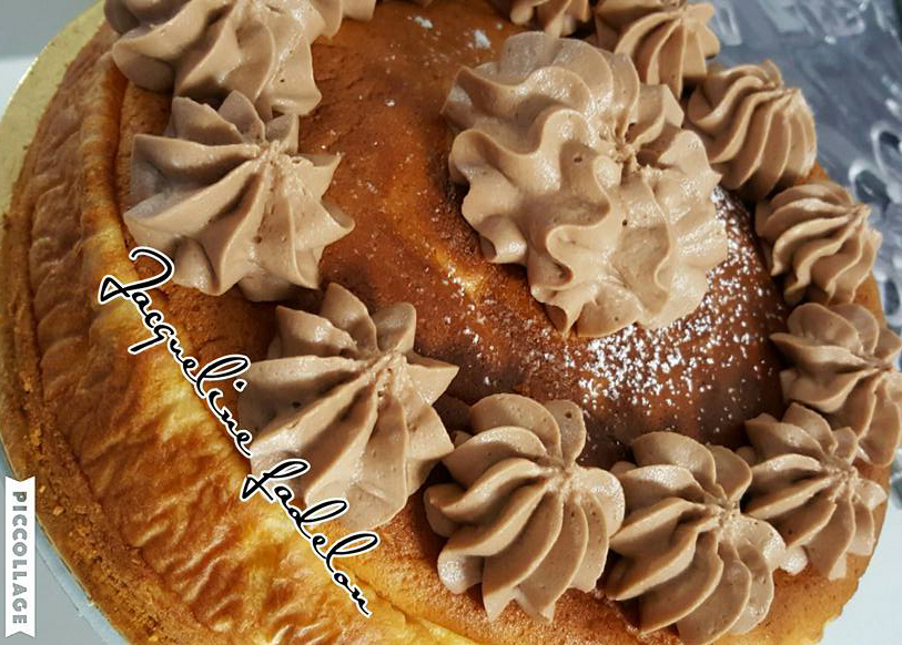 עוגת גבינה עם ציפוי שמנת מתוקה ונוטלה