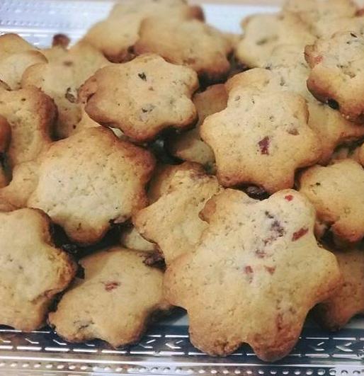 עוגיות פירות יבשים נדירות בכל ביס יש עונג של סוכריה