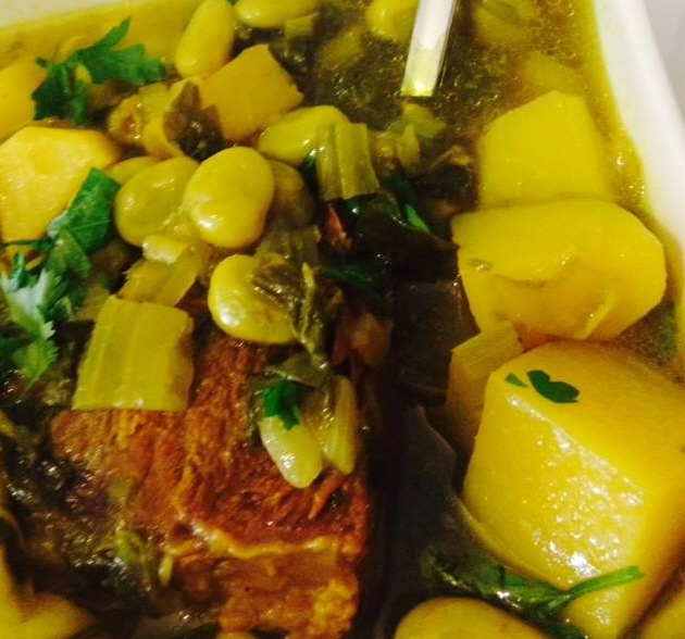 מרק פולים מרוקאים עם בשר
