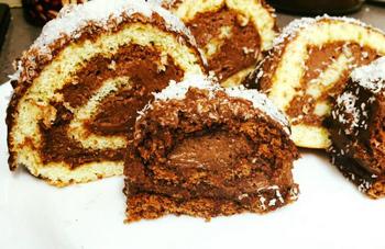 רולדות קצפת/שוקולד-