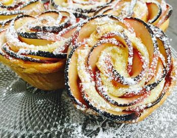 שושנים עם תפוחים ובצק פריך-  מאסטר מתכונים