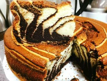 עוגת שיש שלוש צבעים- מאסטר מתכונים