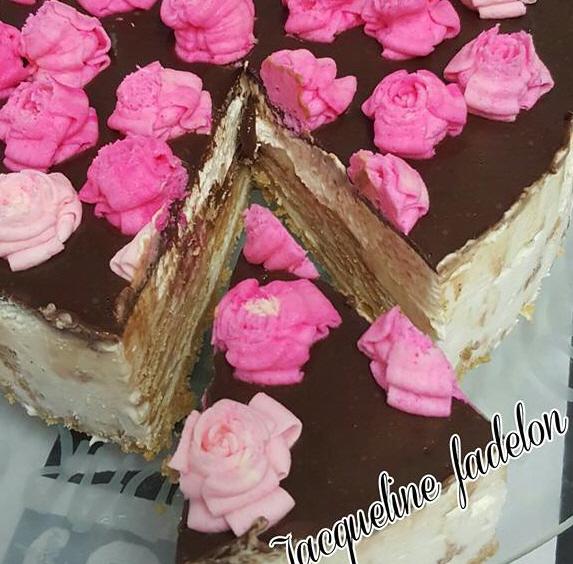 עוגת ביסקוויטים פטי בר עם גנאש שוקולד בקלי קלות ומינימום זמן