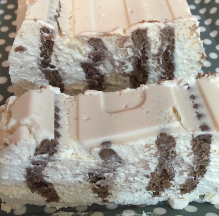 עוגת זברה ביסקויטים הפוכה