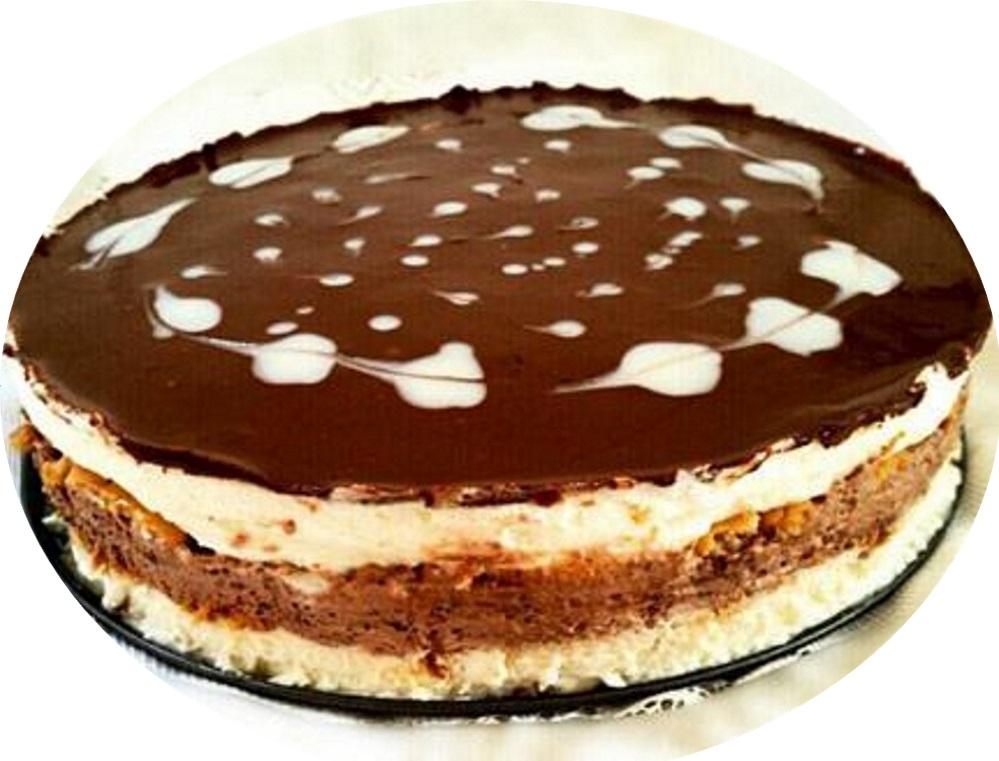 עוגת ביסקוויטים משודרגת עם שוקולד
