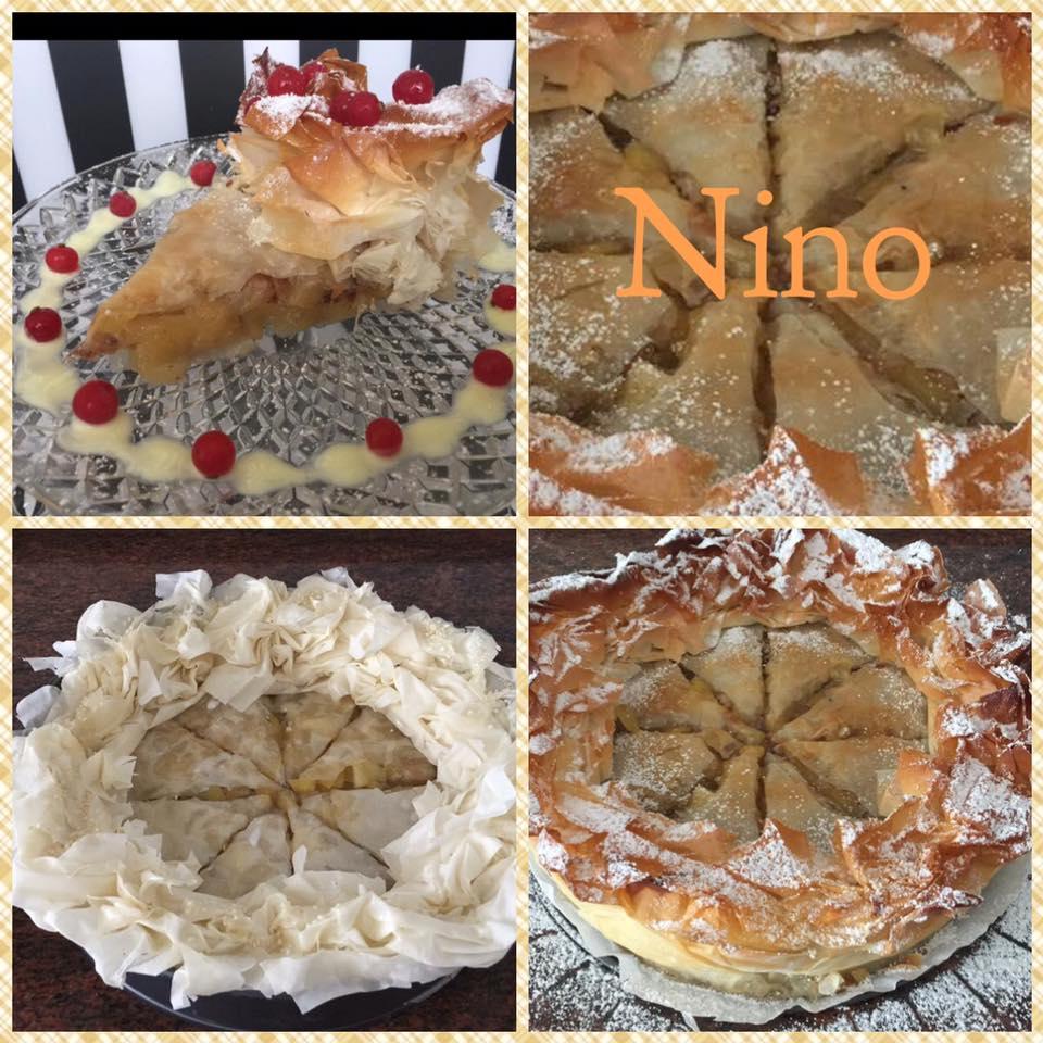 עוגת תפוחים ובצק פילו-  מבשלים ואופים עם מאסטר מתכונים