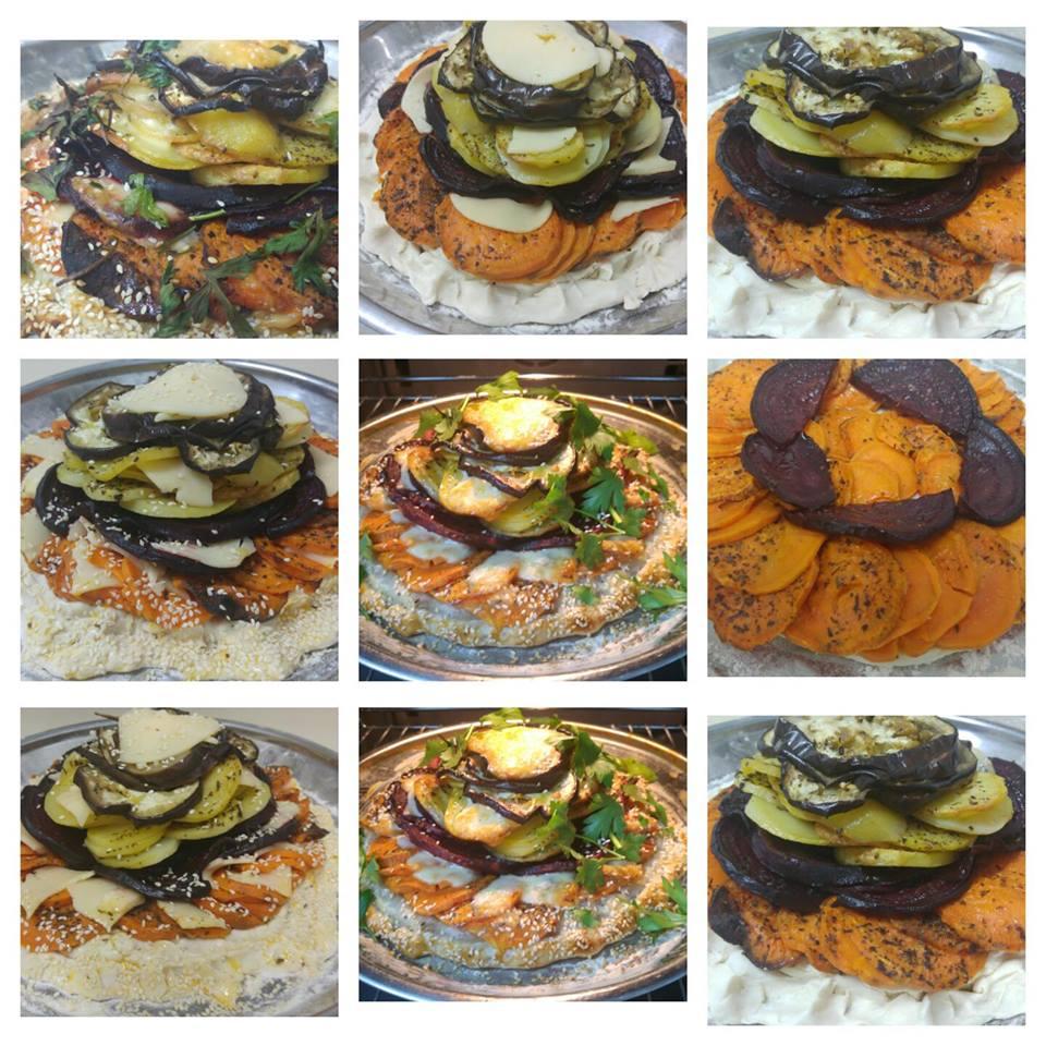מבשלים ואופים עם מאסטר מתכונים  -  -  פלטת ירקות וגבינות בתנור