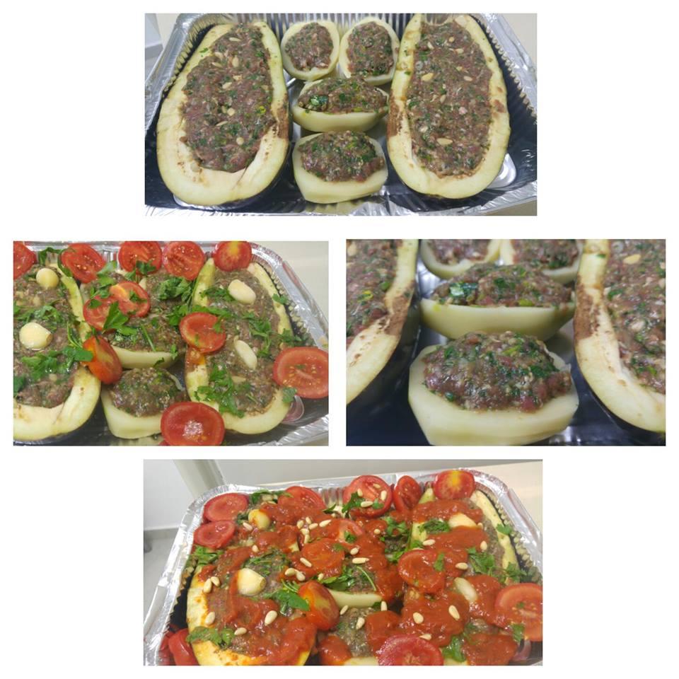 מבשלים ואופים עם מאסטר מתכונים  -  -   סירות חציל ותפוחי אדמה בתנור