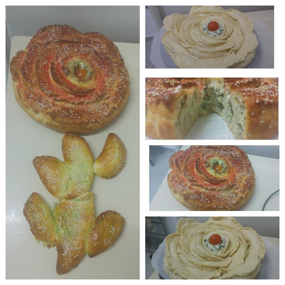 מבשלים ואופים עם מאסטר מתכונים  -  -   מאפה פרח גבינות ותרד