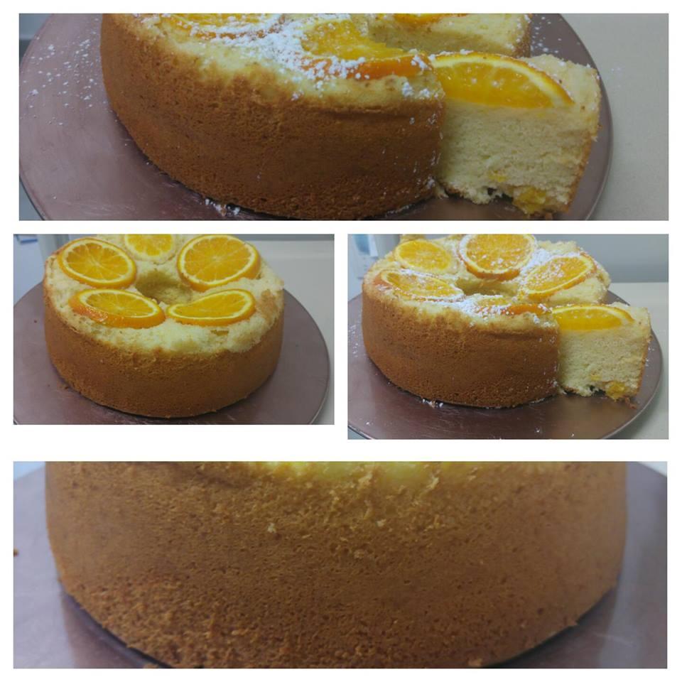מבשלים ואופים עם מאסטר מתכונים  -  -     עוגת תפוזים עם חתיכות תפוזים בפנים