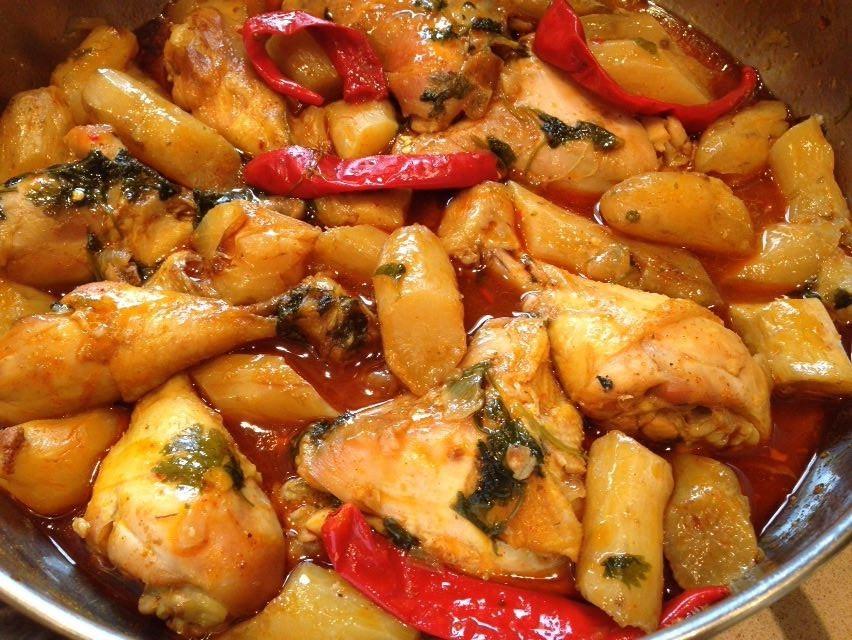 תבשיל עוף עם בטטה קסביה -  מבשלים ואופים עם מאסטר מתכונים