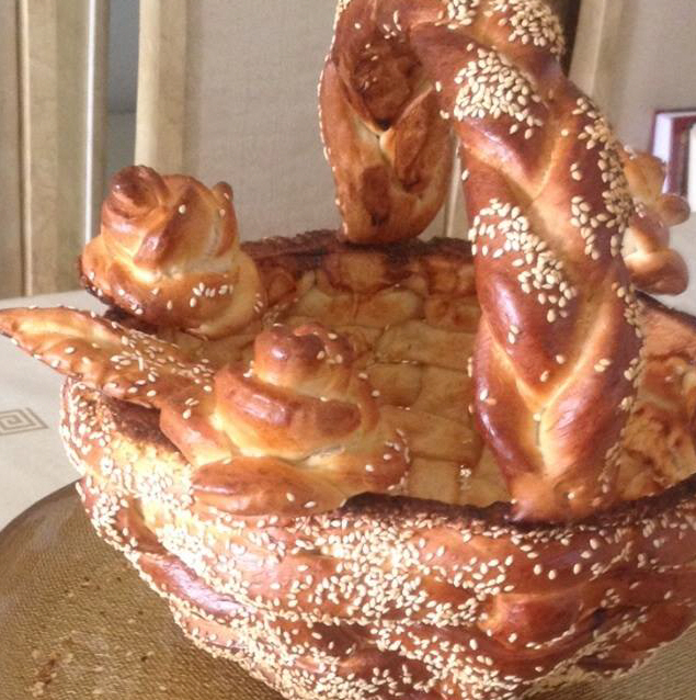 סלסלת שבועות מבצק לחם  ...  מבשלים ואופים עם מאסטר מתכונים