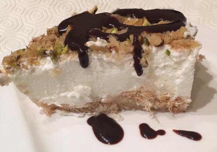 עוגה עם בסיס קדאיף מטריפה