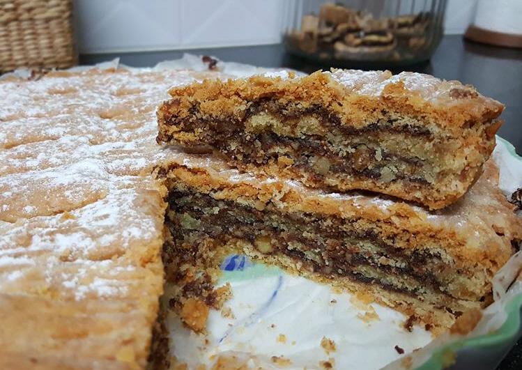 עוגת שכבות בצק פריך בנוטלה