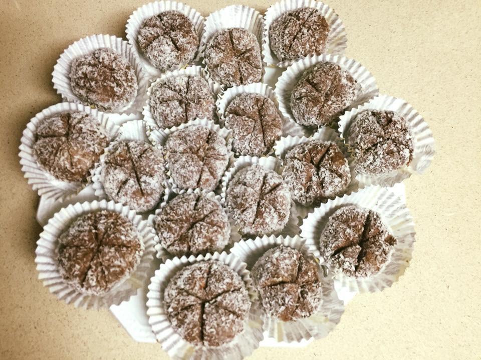 עוגיות בריאות שהכנתי ממאפינס פירות שלא הצליחו באפיה