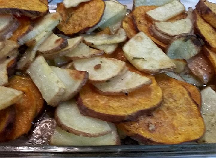 מתכון מהמם לתפוחי אדמה ובטטה בתנור...מבשלים ואופים עם מאסטר מתכונים