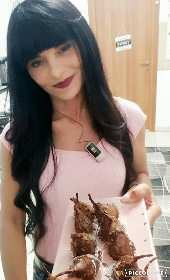 מתכון אגסים בציפוי גנאש שוקולד מריר