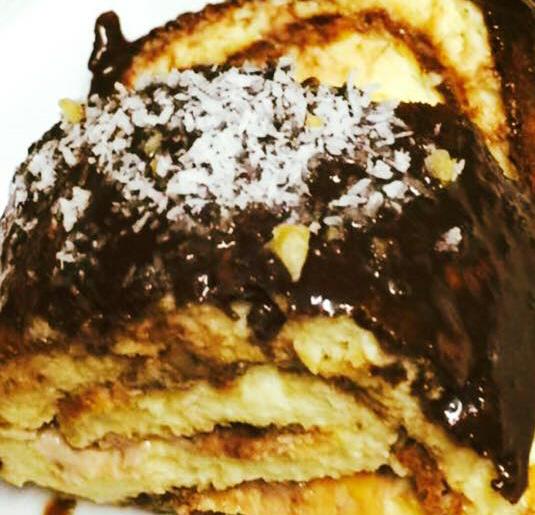 רולדות על בסיס בצק עננים +שוקולד עם שמן קוקוס וסילאן דל שומן ..... מבשלים ואופים עם מאסטר מתכונים