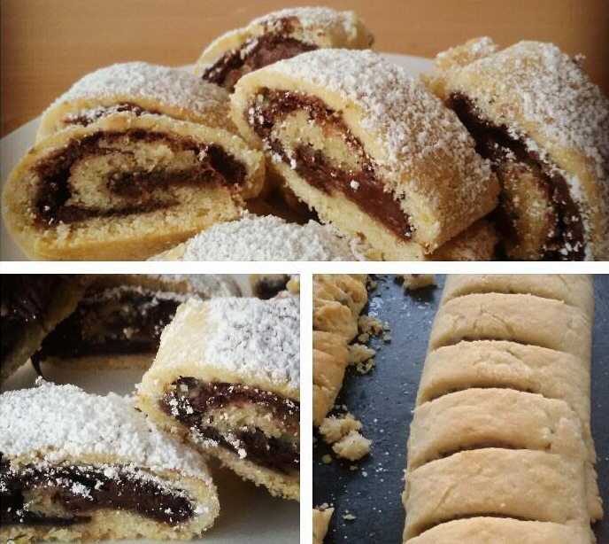 עוגיות רולדה במילוי שוקולד פרווה /תמרים או כל ממרח שבא