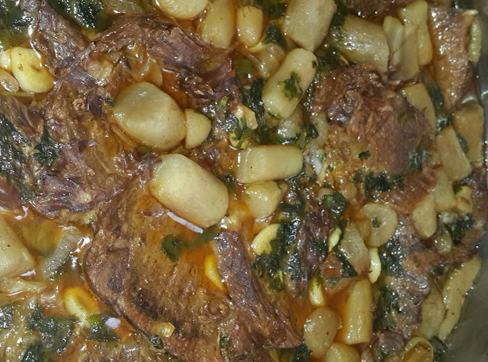 צלי בקר עם תפוחי אדמה ירושלמי...בטטה קסבייה