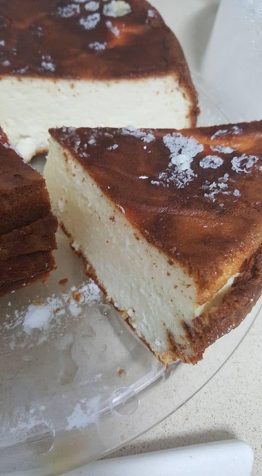 עוגת גבינה עם שוקולד לבן בסיר ג'חנון