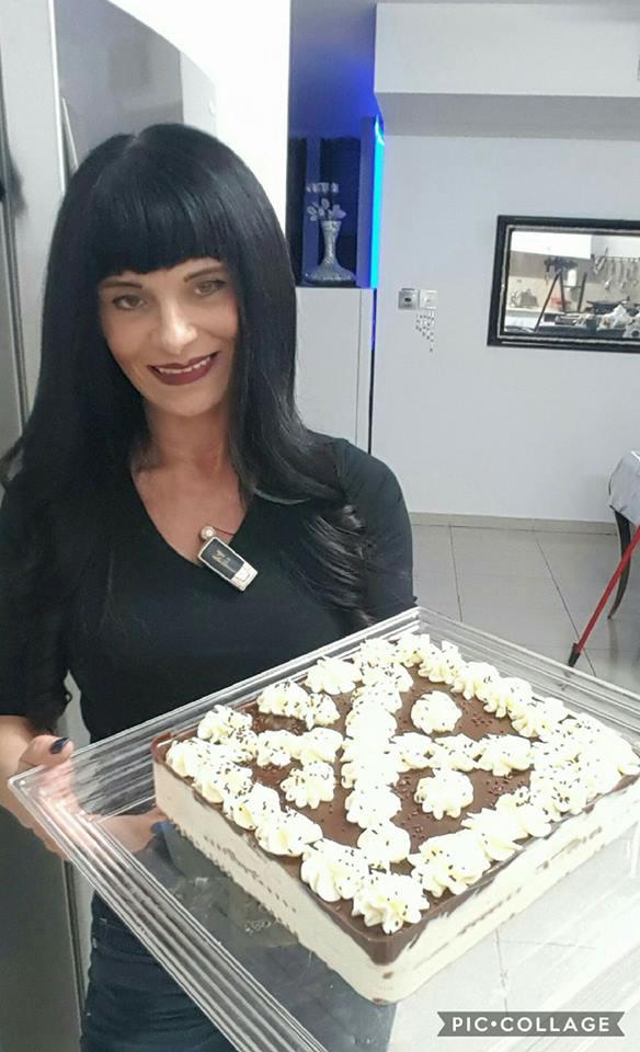 עוגת ביסקוויטים עם גבינה של סבתא מעוצבת