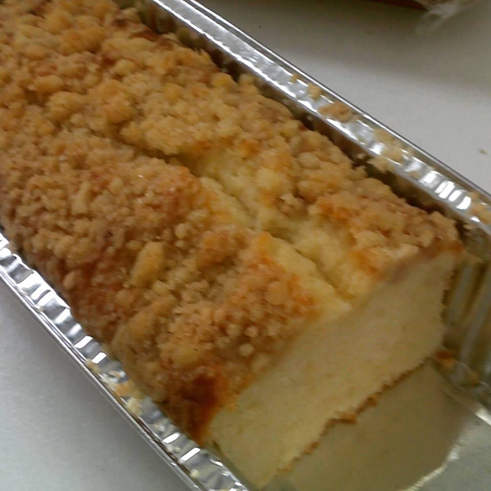 עוגת וניל בציפוי פירורים