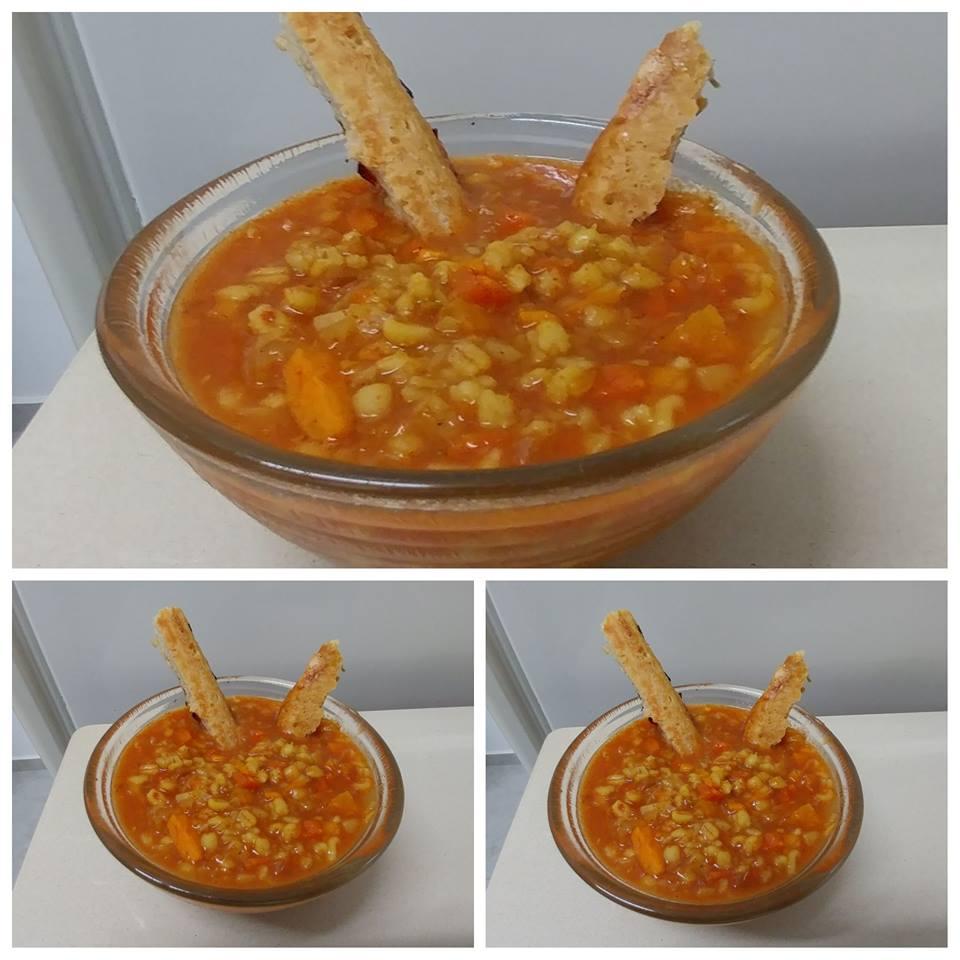 מרק ירקות וגריסים קצוץ בסלייסר ...הכי טעים מחמם ובריא