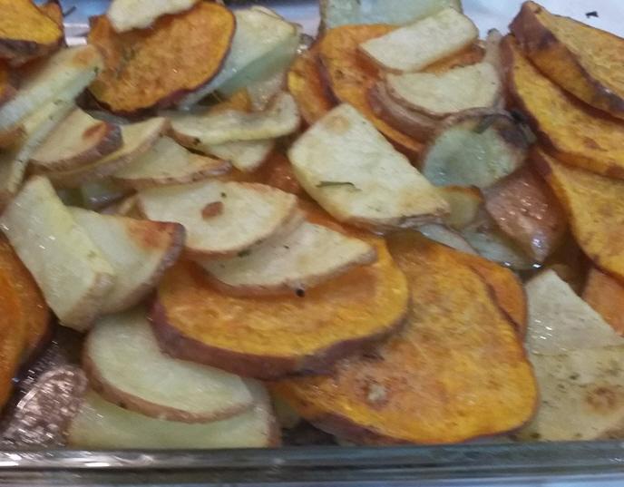 מתכון מהמם לתפוחי אדמה ובטטה בתנור ... גילה כהן-אבני