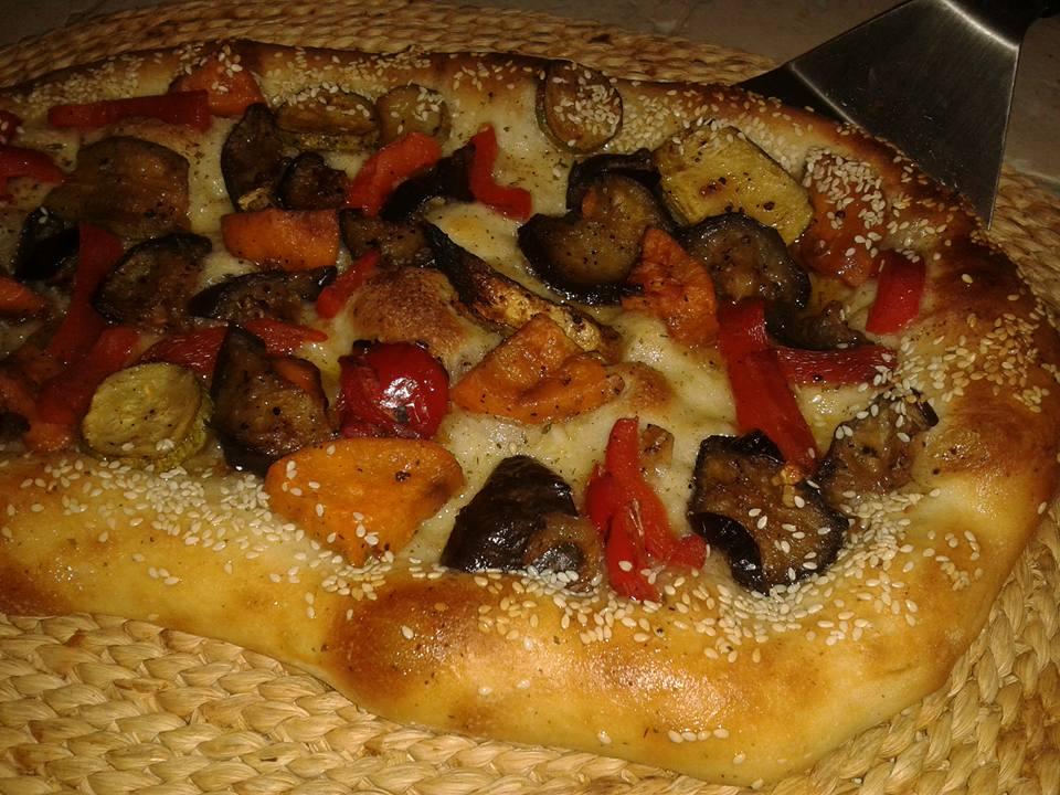 פוקצ'ה ירקות קלויים