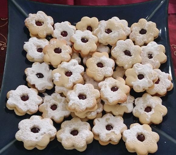 עוגיות פרחים עם ריבה ... כוכי ממן עטיה