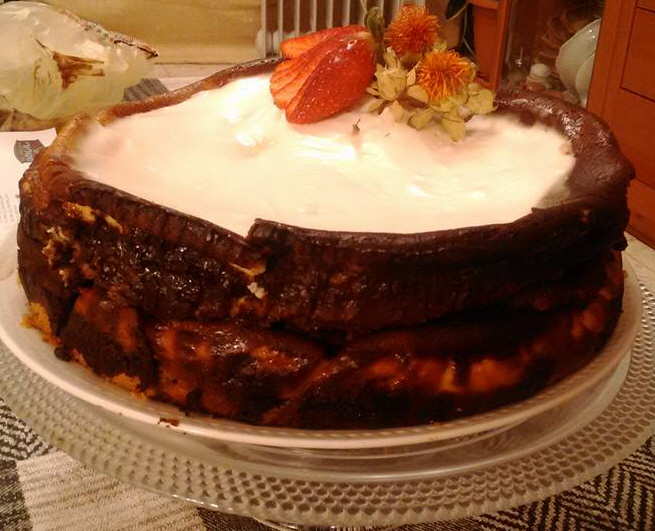עוגת גבינה אפויה,שוקולד..ומקלות ווניל. .אלי גרוס