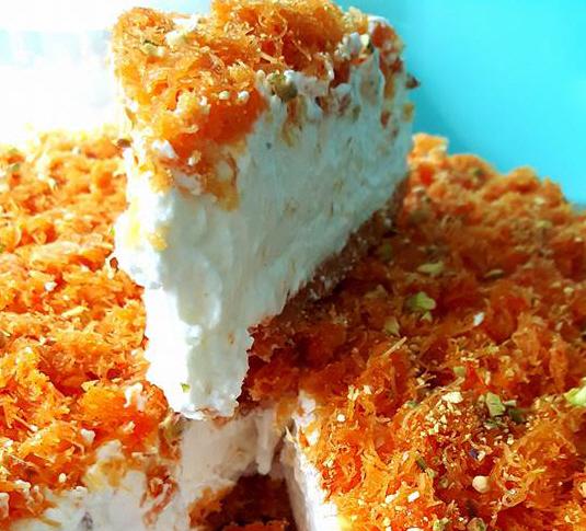 עוגת גבינה קדאיף. .עינת חנניה