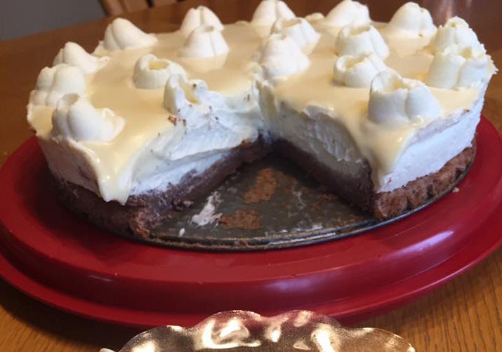 עוגת קרמבו מוס שוקולד לבן...כלה בלבן