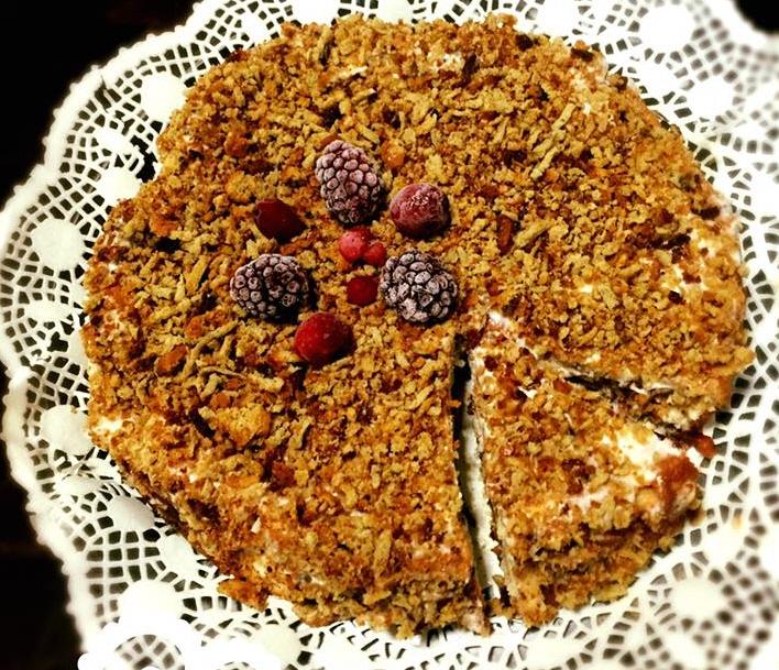 עוגת גבינה עם פירורים אפויה מדהימה שהכנתי ...דיאטטית לא משמינה וללא גלוטן