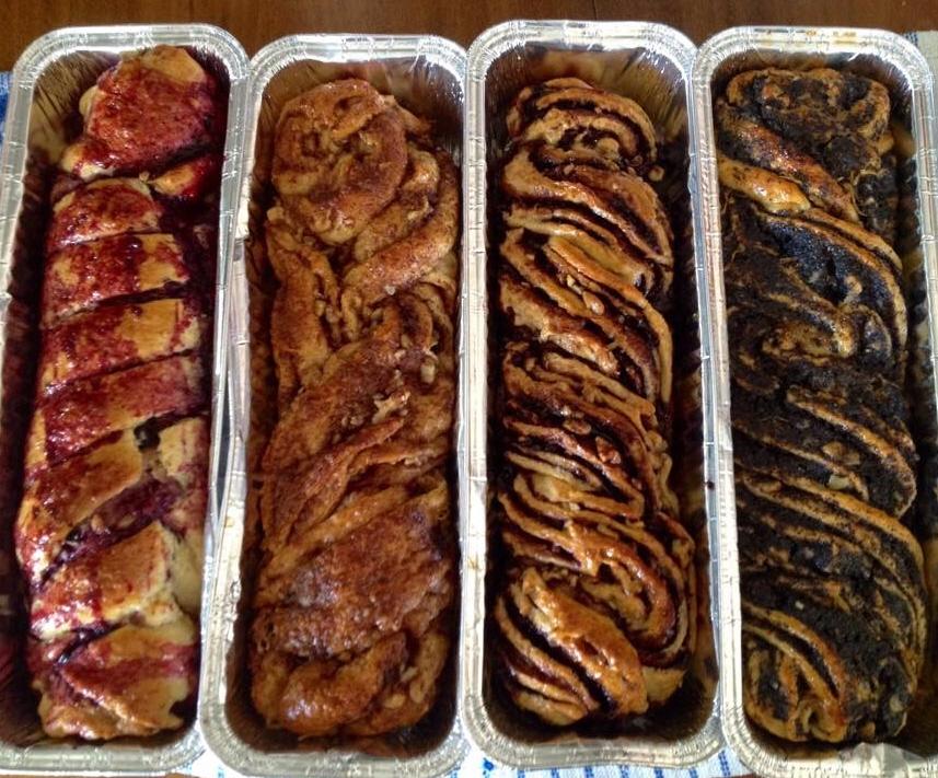 מיקס עוגות  עוגת פרג, עוגת שוקולד, עוגת קינמון ועוגת פירות יער - רווית דהאן