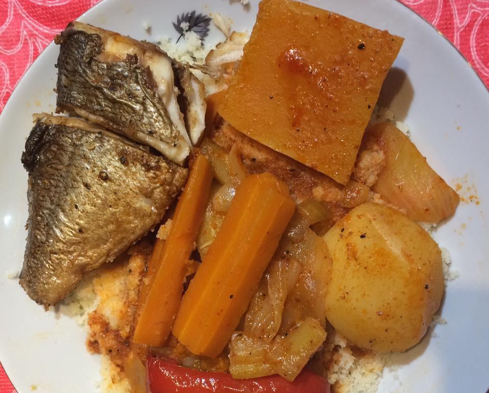 קוסקוס עם דגים - טוניסאי ..מרקה בלחוט והטעם משגע - בריגיט רובין סבן