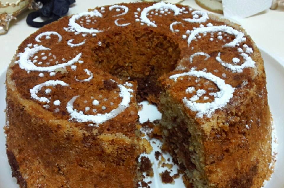 עוגת פוך תפוזים , קקאו ואגוזים מקורמלים -מתכון : שף אלי הופארט