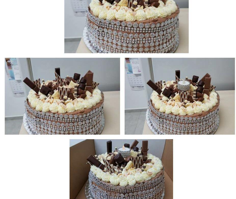 עוגת טורט במילוי מוס שוקולד ואגוזי מלך