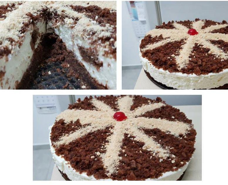עוגת פאדג' עם קצפת