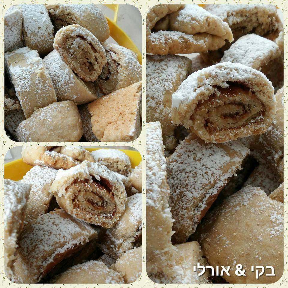 עוגיות רולדה פריכות ומשגעות בשילוב 2 ממרחים יחד